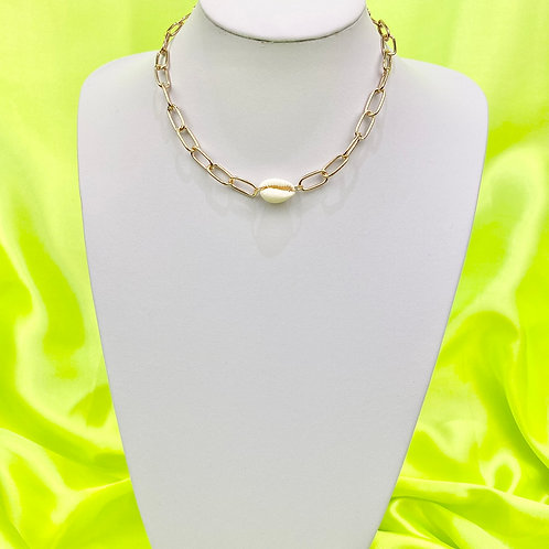 Industrial Chain Shell Necklace
