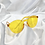 Thumbnail: Yellow Orange Round Frameless Sunglasses