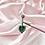 Thumbnail: Aqua Heart Gem Belly Bar