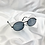 Thumbnail: Black Grey Wide Oval Sunglasses