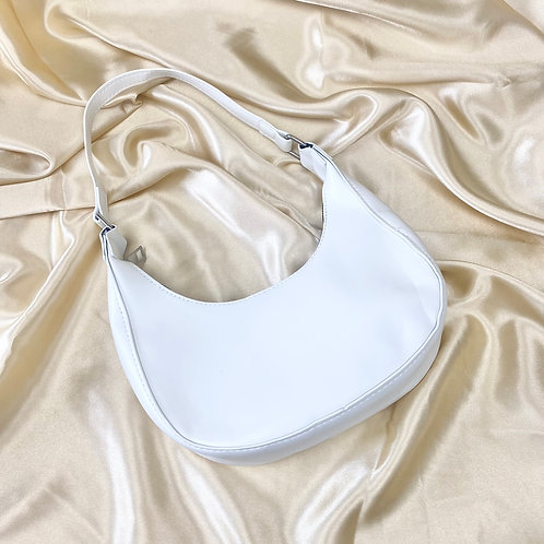 White Mini PU Shoulder Bag