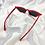 Thumbnail: Red Rectangle Cat Eye Sunglasses
