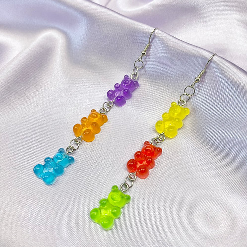Gummy Bear Triplet Earrings