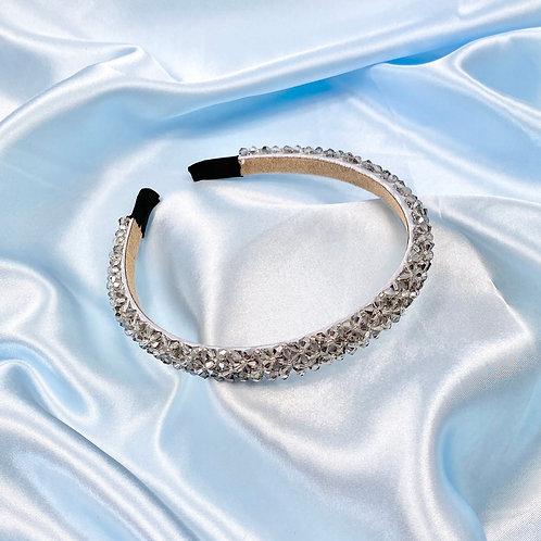Grey Luxury Bead Headband