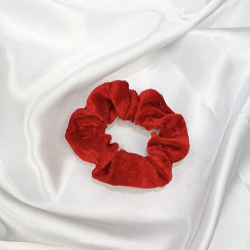 Ruby Red Velvet Scrunchie