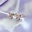 Thumbnail: Rose Gold CZ Paved Playboy Stud Earrings