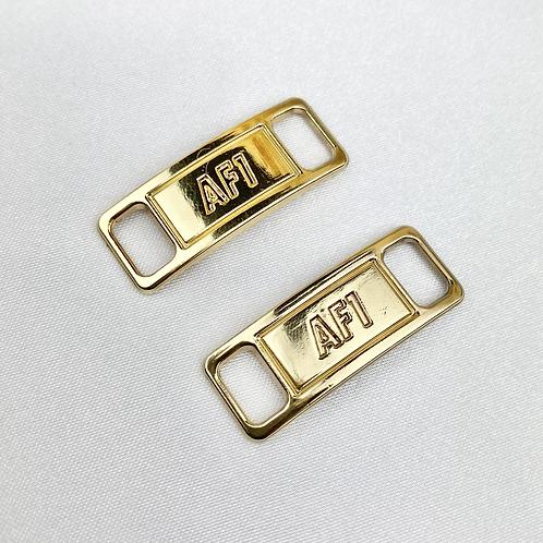 Gold AF1 Shoe Lace Buckle