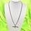 Thumbnail: Silver Rhinestone Gun Necklace
