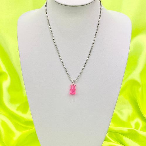 Pink Gummy Bear Necklace