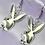 Thumbnail: Silver Bunny Earrings