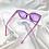 Thumbnail: Purple Clear Star Square Sunglasses