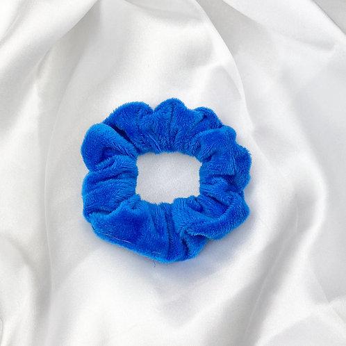 Dark Blue Velvet Scrunchie