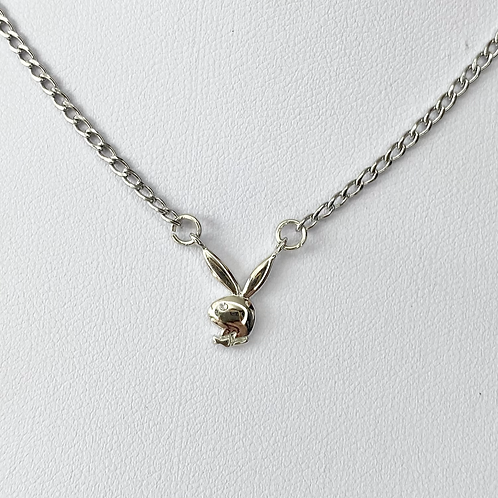 Silver CZ Eye Playboy Necklace