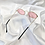 Thumbnail: Pink Wide Oval Sunglasses