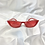 Thumbnail: Red Embossed Rectangle Sunglasses