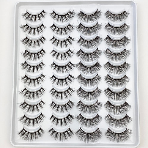 Lash Collection 20 Pairs - Golden Hour