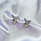 Thumbnail:  Clear CZ Paved Playboy Stud Earrings