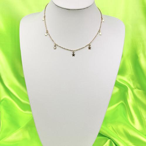Gold Dainty Star Choker Necklace