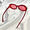 Thumbnail: Red Clear Glitter Clout Goggle Sunglasses
