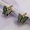 Thumbnail: Black Butterfly Hoop Earrings