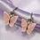Thumbnail: Pink Glitter Butterfly Hoop Earrings
