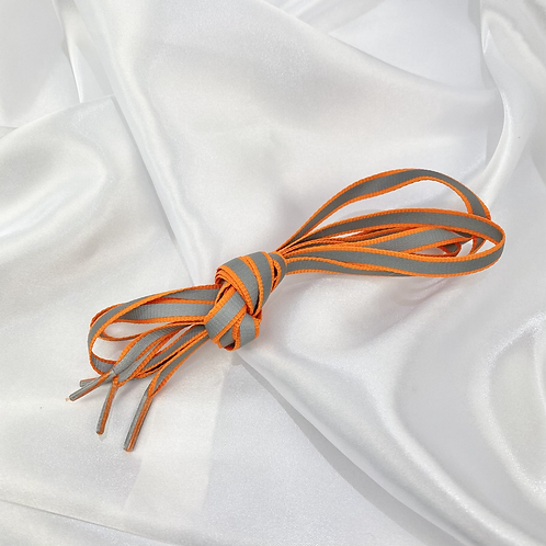 Orange Retro Reflective Laces