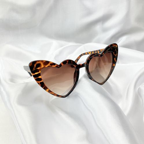Tortoiseshell Statement Heart Sunglasses
