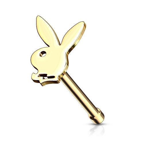 Gold Playboy Nose Stud