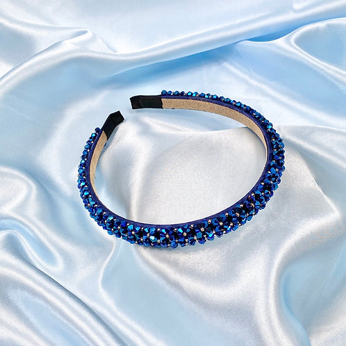 Dark Blue Luxury Bead Headband