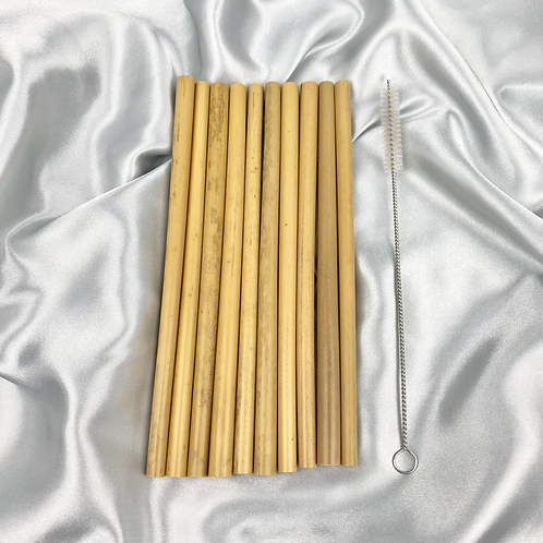 Bamboo Straw Set With Cleaner