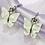 Thumbnail: White Butterfly Hoop Earrings