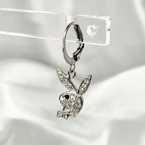 Silver Cubic Zirconia Playboy Earrings