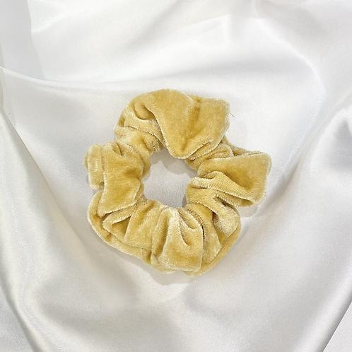 Camel Velvet Scrunchie