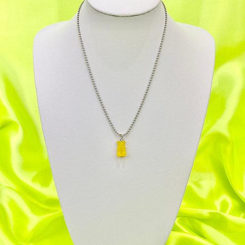 Yellow Gummy Bear Necklace