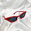 Thumbnail: Red Rectangle Cat Eye Sunglasses