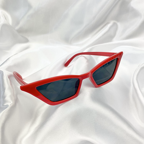 Red Rectangle Cat Eye Sunglasses