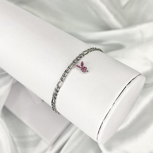 Pink Mini CZ Playboy Bracelet