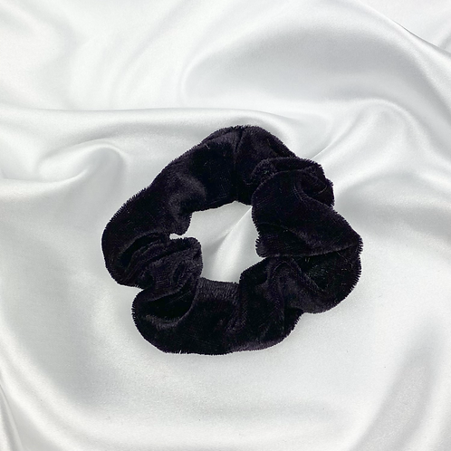 Very Dark Purple Velvet Scrunchie