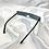 Thumbnail: Black Retro Frameless Rectangle Sunglasses