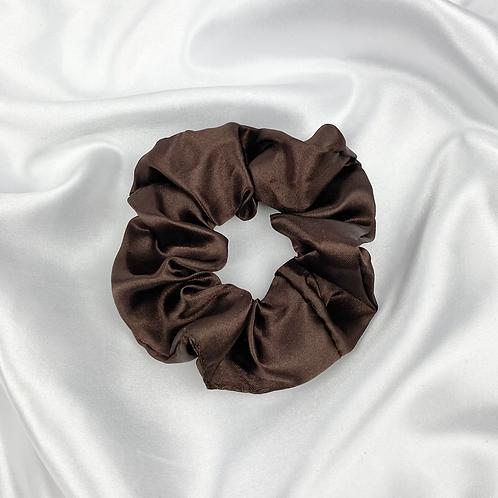 Dark Chocolate Satin Scrunchie
