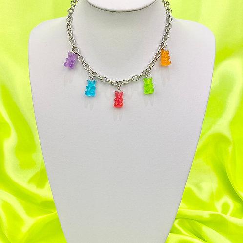 Multi Colour Gummy Bear Choker Necklace