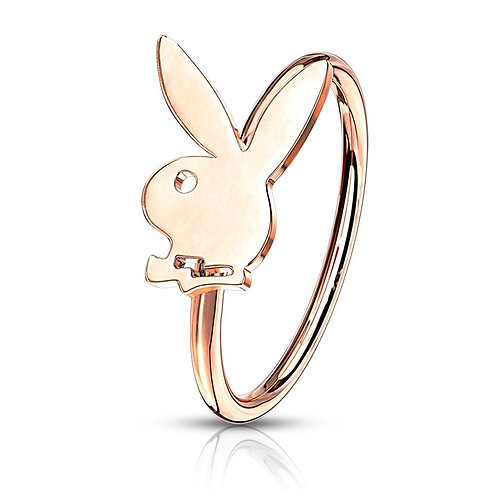 Rose Gold Playboy Hoop