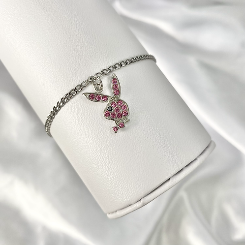 Pink Cubic Zirconia Playboy Bracelet