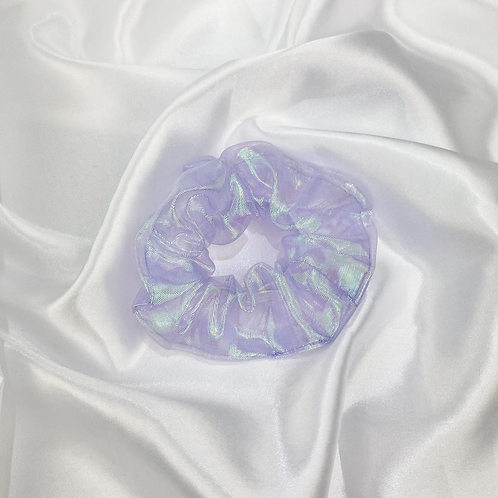 Purple Iridescent Scrunchie