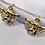 Thumbnail: Gold Angel Hoop Earrings