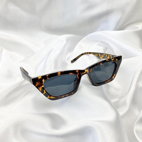 Tortoiseshell Rectangle Sunglasses