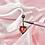 Thumbnail: Pink Heart Gem Belly Bar