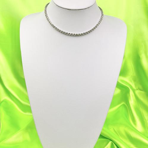 Silver Dainty Tennis Choker Necklace