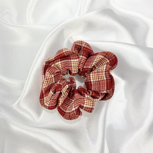 Red, Orange & White Tarten Scrunchie