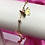 Thumbnail: Gold Dainty Ball Dangly Butterfly Anklet